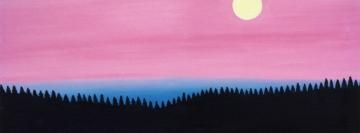 Le soir tombe sur la lac Portage  page accueil site web