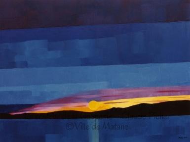 15 Le soleil couchant devant Matane - 1991